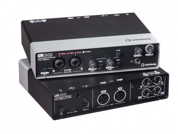 USB-Audiointerface Steinberg UR242 - MIDI, iPad
