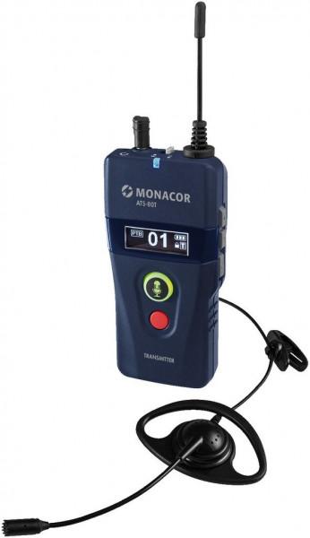 Sender ATS-80T Monacor mobil digitale 42-Kanal-PLL-Sprachübertragungssystem
