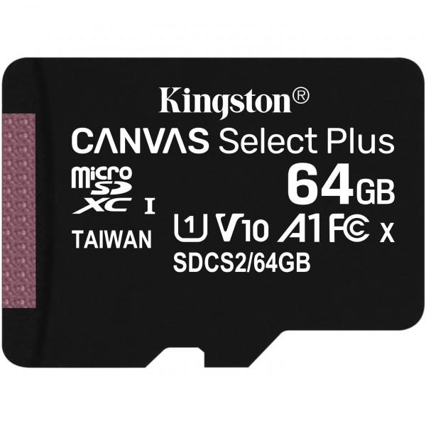 MicroSD Kingston 64GB Canvas Select Plus MircoSDXC 100MB/s SD Karte